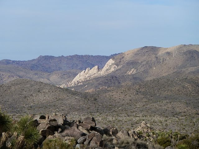 Saddle Rocks from the Key's View Road, Joshua Tree NP