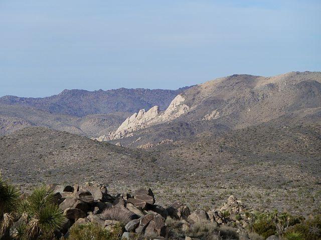 Rock Climbing Photo: Saddle Rocks from the Key's View Road, Joshua Tree...