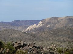 Rock Climbing Photo: Saddle Rocks from the Key's View Road, Joshua Tree...