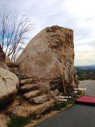 Rock Climbing Photo: Huntington Wall Left Topo