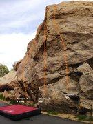 Rock Climbing Photo: Huntington Wall Center Topo