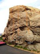 Rock Climbing Photo: Huntington Wall Right Topo