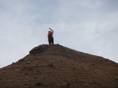 Rock Climbing Photo: Jubilant climber enjoying the summit of the Tower ...