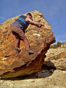 Rock Climbing Photo: Just before the sidepull ripped off.  Now there is...