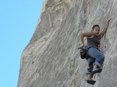 Rock Climbing Photo: Sara Matisse on the FA