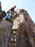 Rock Climbing Photo: On the first recorded ascent.