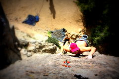 Rock Climbing Photo: warming up on a chill lead, left face, at the bubb...
