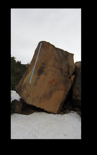 Rock Climbing Photo: Xeric Rule problem beta.