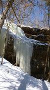 Rock Climbing Photo: The main curtain.