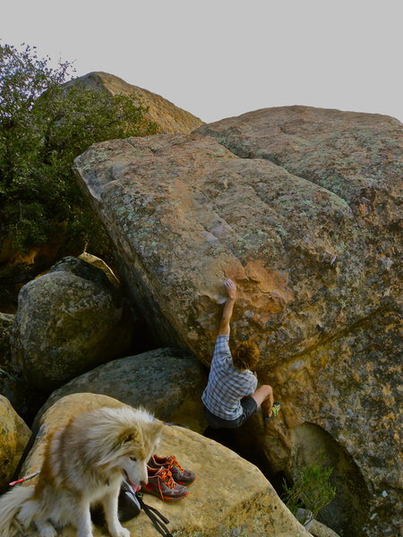 Rock Climbing Photo: Andy Patterson starting Kathy Moffat. Dale being a...
