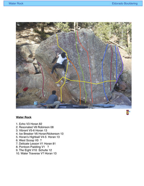 Rock Climbing Photo: Water Rock topo update.