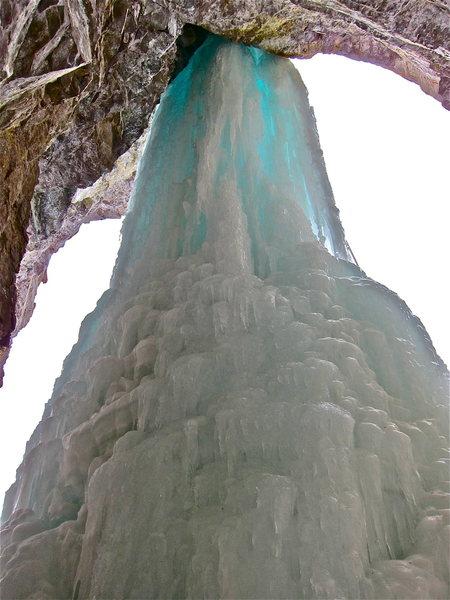 Rock Climbing Photo: Back of Santa Claus Pillar.