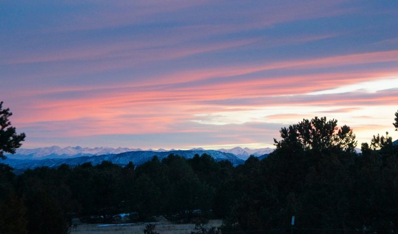 Sunset from the Bank campground.