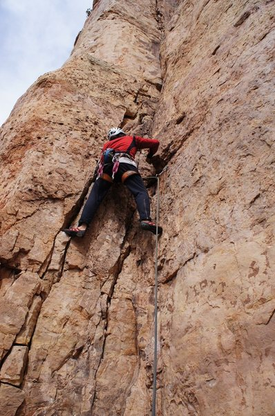 Rock Climbing Photo: Starting up Risky Business.