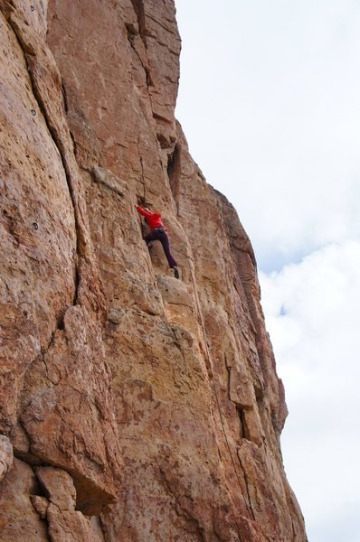Rock Climbing Photo: Climber leading Crimpson Candy.