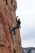 Rock Climbing Photo: This large rock is part of the flake that fell off...