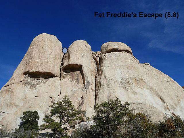 Fat Freddie's Escape (5.8), Joshua Tree NP
