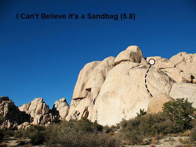I Can Believe it's a Sandbag (5.8), Joshua Tree NP