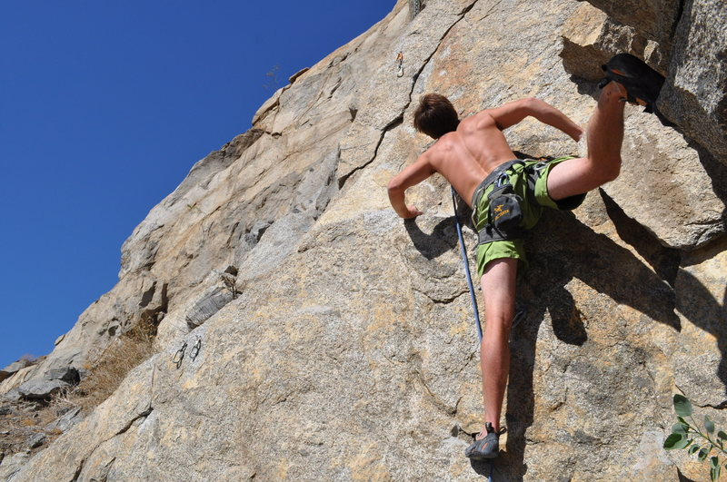 Rock Climbing Photo: Jake backstepping his way up Some Assembly Require...