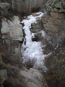 Rock Climbing Photo: Juan Tabo Waterfall March 3, 2013.