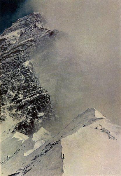 Willi Unsoeld & Tom Hornbein on West Ridge of Mt. Everest, 1963. Photo by Barry Bishop.