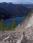 Rock Climbing Photo: Colchuck Lake from Aasgard Pass