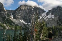 Rock Climbing Photo: Aasgard pass on the left - from here , we had an e...