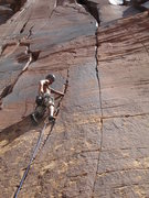 Rock Climbing Photo: hand jam on D is dancing