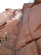 Rock Climbing Photo: moving up the start of W T B