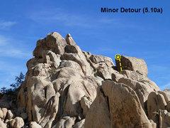 Rock Climbing Photo: Minor Detour (5.10a), Joshua Tree NP