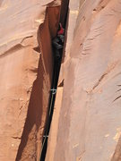 Rock Climbing Photo: the roof in this is funky but not that bad if yer ...