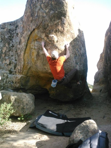 Shane on the crux