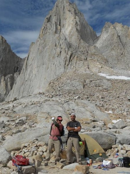 About to climb East Buttress of Mt. Whitney