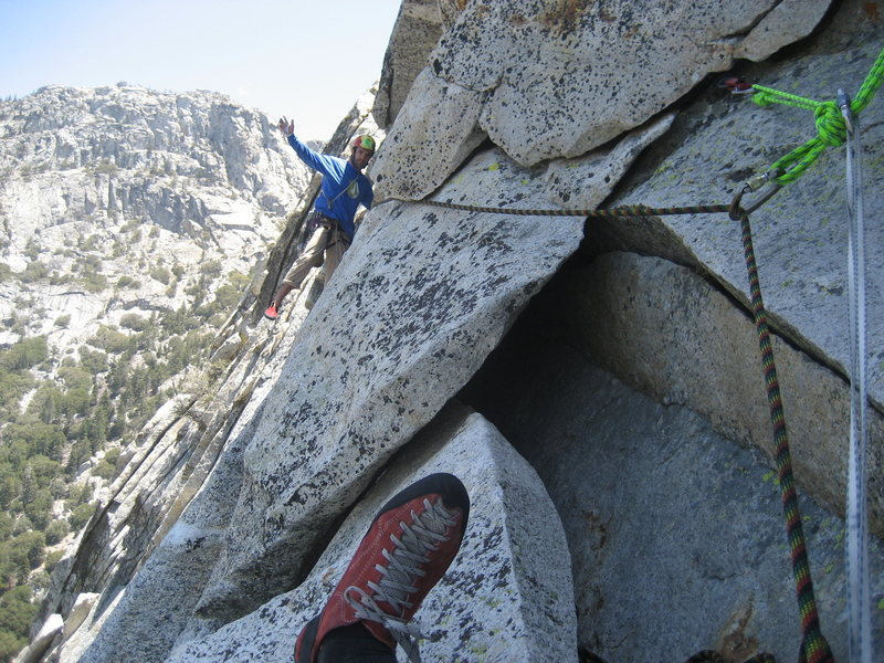 Rock Climbing Photo: Super off-route in Tahquitz!!!