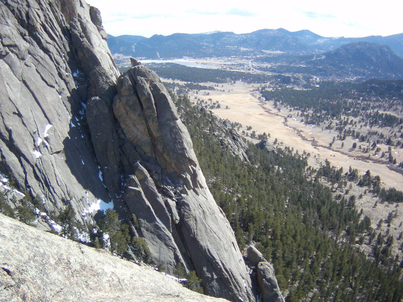 Rock Climbing Photo: Climbers on Melvin's Wheel- Lumpy Ridge.  Sunday M...