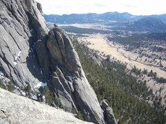Rock Climbing Photo: Climbers on Melvin's Wheel- Lumpy Ridge.  Sunday M...