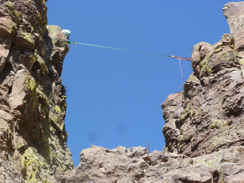 Rock Climbing Photo: Someone set up a tyrolean (or slack line) between ...