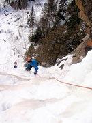 Rock Climbing Photo: Carter Stritch climbing towards the belay