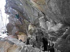 Rock Climbing Photo: Me on Spaceballs making the fun link between The C...