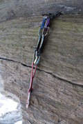 Rock Climbing Photo: the cluster of gear i used to protect the begining...