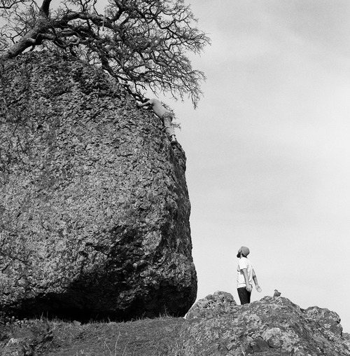Big ol boulder, good fun climb. Photo by mark sommer
