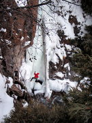 Rock Climbing Photo: Carter Stritch setting up the belay on Danger Blan...