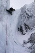 Rock Climbing Photo: The rogue pitch in fat conditions  Photo by Alasta...