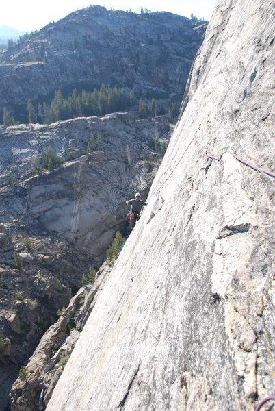up high on the climb