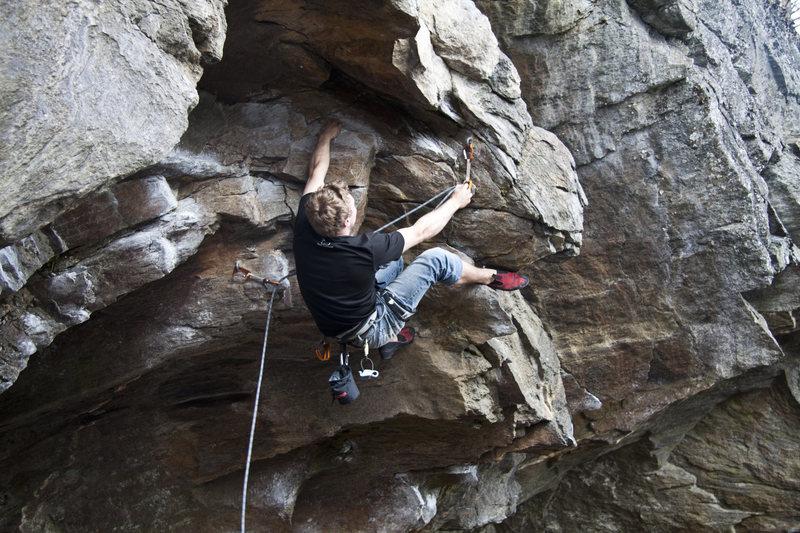 Rock Climbing Photo: Obi Wan Ryobi - Darth Vader Crag, Rumney NH