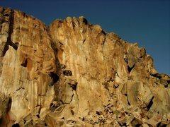 Rock Climbing Photo: Matt bolting the line.