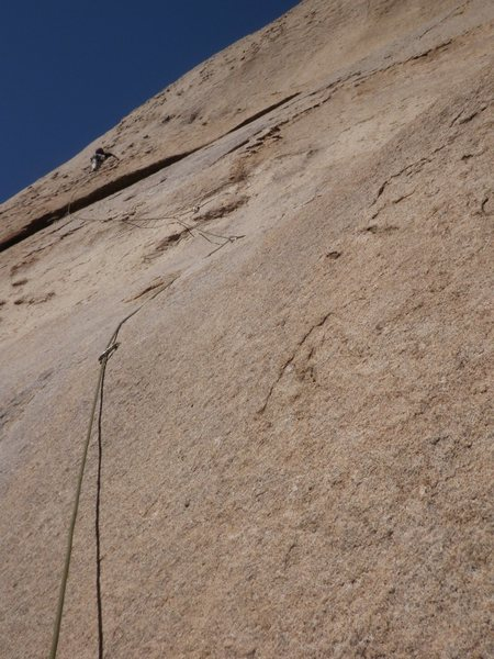 Rock Climbing Photo: This photo shows the first bolt (with a locker on ...