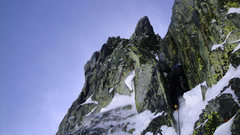 Rock Climbing Photo: The start of the Waterfall Pitch.