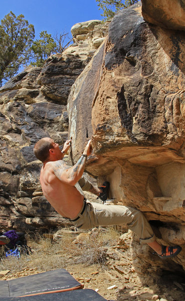 Colt on the small crimps<br> The Plague (V4)