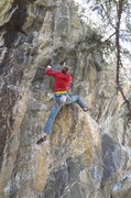 Rock Climbing Photo: After the transition. You can see the 4th clip of ...